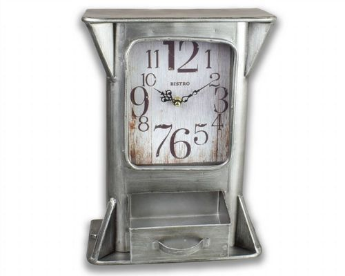 35cm Clock With Draw, Wall Or Desk Top